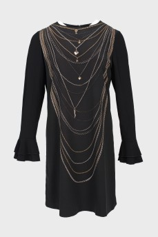 Платье Moschino с принтом цепи
