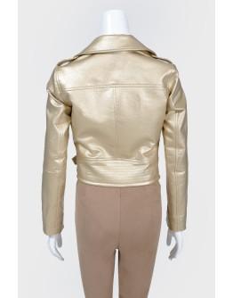 Золотистая куртка-косуха