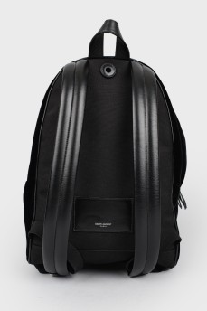 Черный велюровый рюкзак