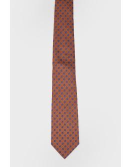 Оранжевый галстук в мелкий принт