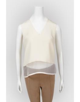 Блуза с прозрачной вставкой