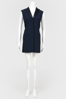 Платье-жилет с подплечниками