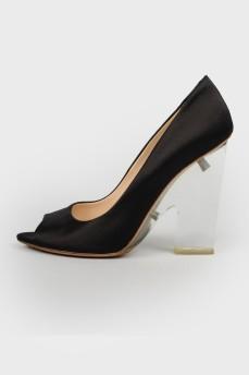 Туфли на прозрачном каблуке