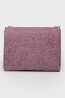 Розовый кошелек из эко-кожи с биркой