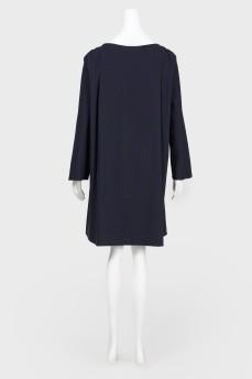 Синее платье с лампасами