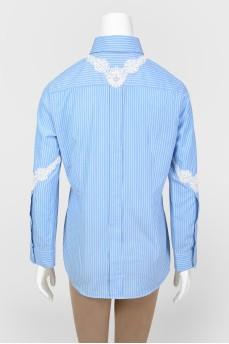 Рубашка с кружевными вставками