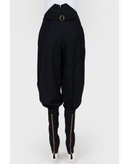 Черные брюки галифе