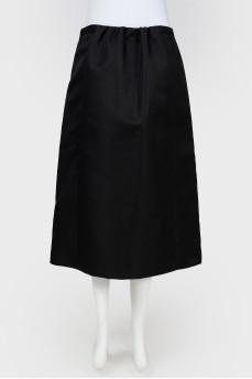 Черная юбка миди