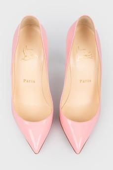 Розовые лаковые лодочки