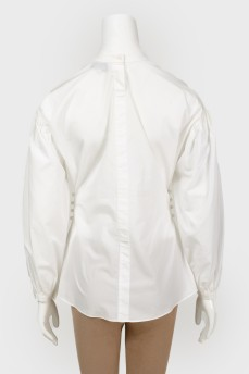 Блуза с жемчужным декором