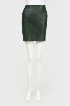 Кожаная облегающая юбка