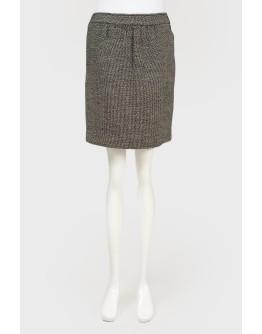 Меланжевая прямая юбка