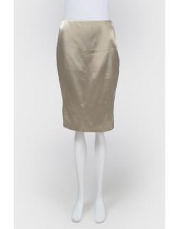 Золотистая шелковая юбка