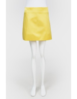 Шелковая мини юбка