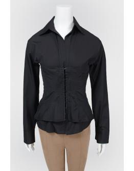 Черная блуза с корсетом