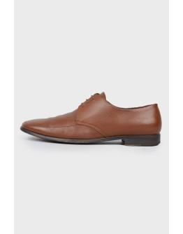 Кожаные туфли на шнуровке