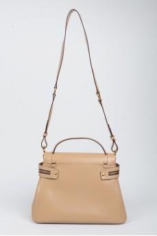 Бежевая сумка из эко-кожи