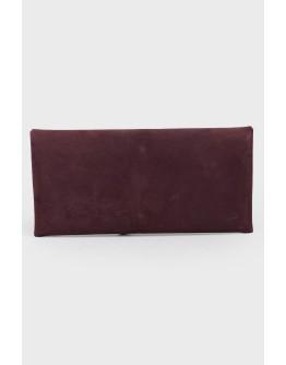 Фиолетовый замшевый клатч