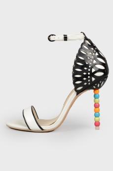 Босоножки Danica с цветным каблуком с биркой