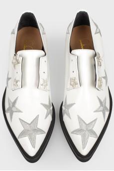 Туфли с вышивкой звезд с биркой