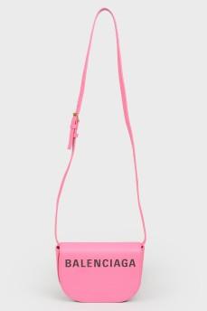 Розовая сумка кросс боди с биркой