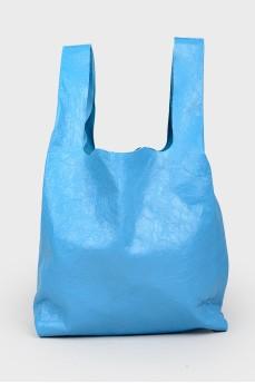 Синяя сумка шоппер