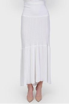 Трикотажная юбка-макси с биркой