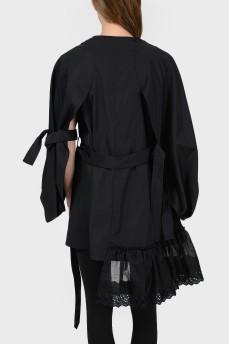 Черный асимметричный жакет