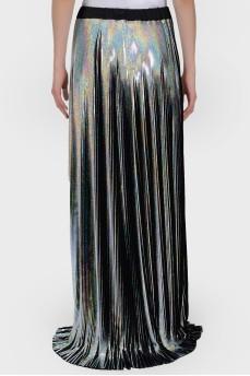Блестящая юбка в пол с биркой