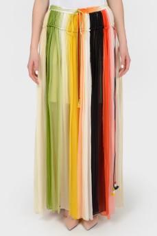 Цветная юбка в полоску с биркой