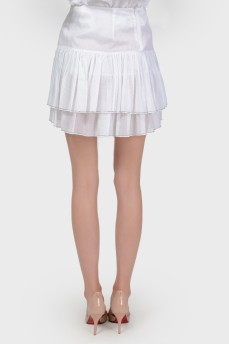 Белая мини-юбка с биркой