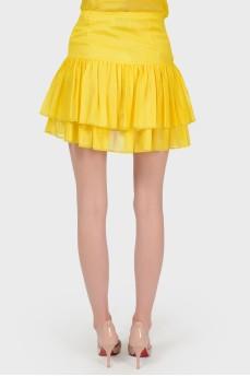Желтая мини-юбка с биркой