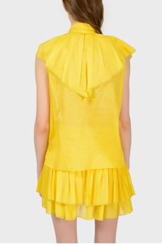Блуза c воланами с биркой