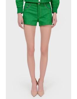 Зеленые шорты мини с биркой