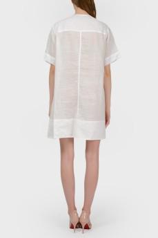 Белое платье-туника с биркой