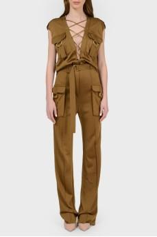 Комбинезон-брюки с биркой