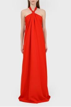 Платье в пол с открытой спиной с биркой
