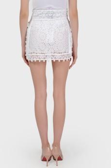 Ажурная юбка мини с биркой