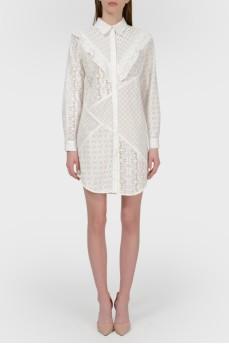 Ажурное платье-рубашка с биркой