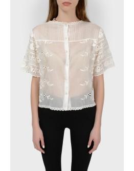 Ажурная блуза свободного кроя с биркой