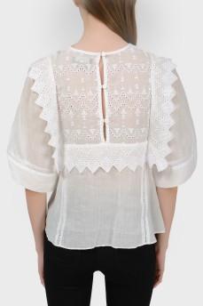 Блуза свободного кроя с биркой