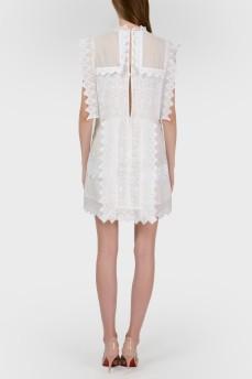 Ажурное платье мини с биркой
