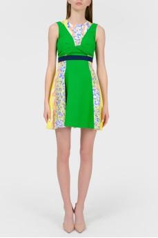 Платье с цветными вставками с биркой