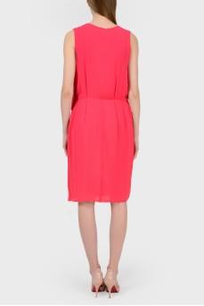 Розовое платье миди с биркой