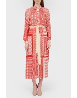 Платье миди в рустикальном стиле с биркой