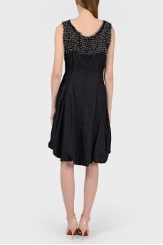 Коктейльное черное платье с биркой