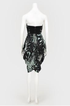 Платье кокон с асимметричным низом