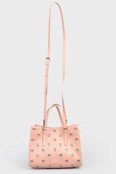 Пудровая сумка с люверсами