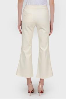 Укороченные брюки клеш с биркой