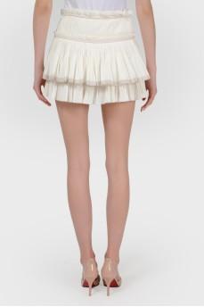 Плиссированная двухярусная юбка с биркой